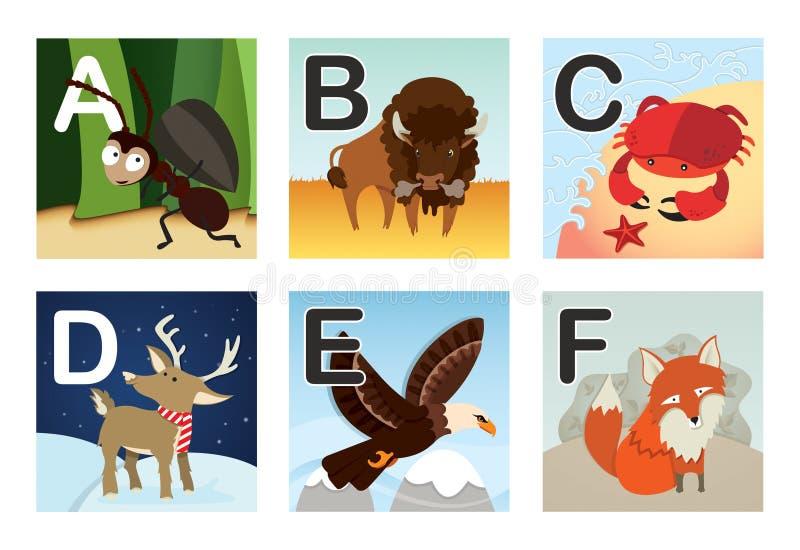 Download Alphabet stock vector. Image of eagle, children, bison - 22805115