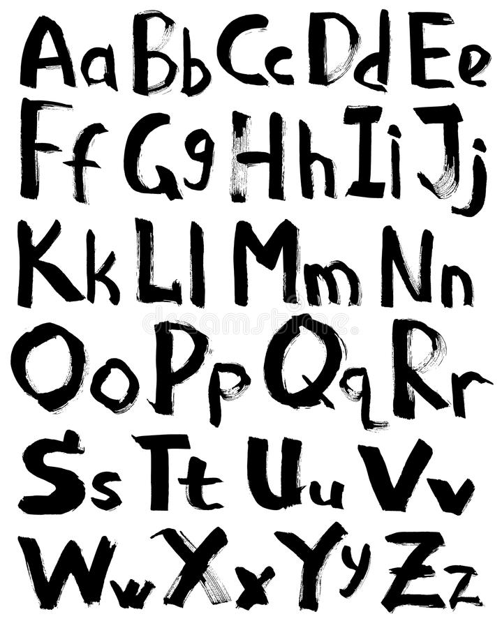 Download Alphabet stock vector. Image of font, mark, doodle, calligraphy - 22878578
