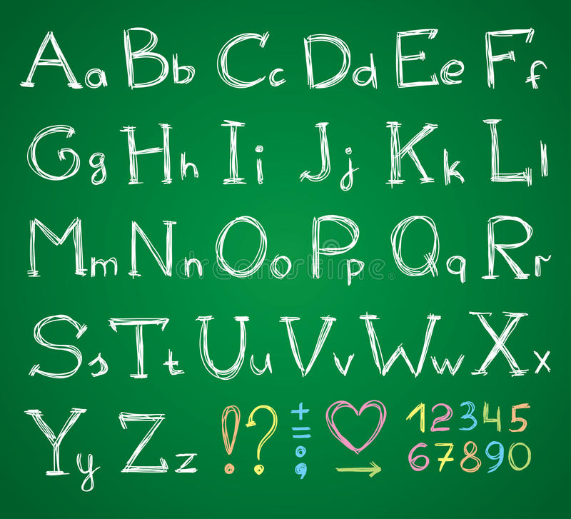 Download Alphabet stock vector. Image of chalk, drawing, child - 25432342