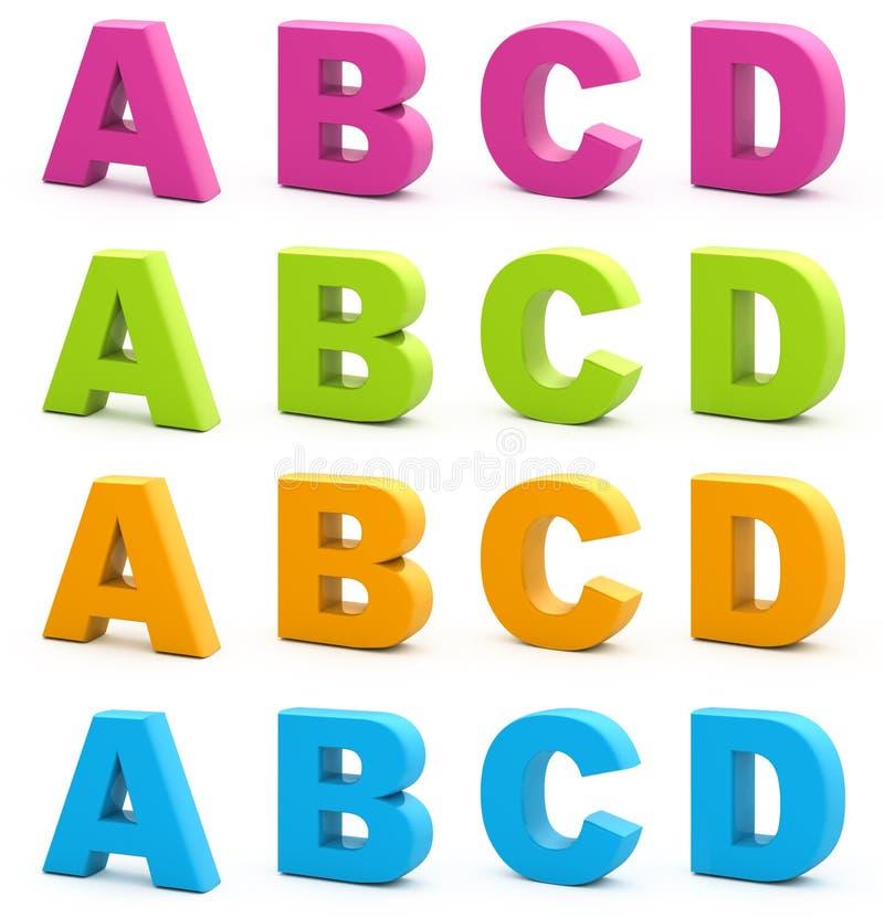Alphabet 3d. lizenzfreie abbildung