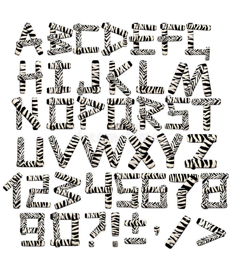 alphabet 3d dans le type d'un safari illustration stock