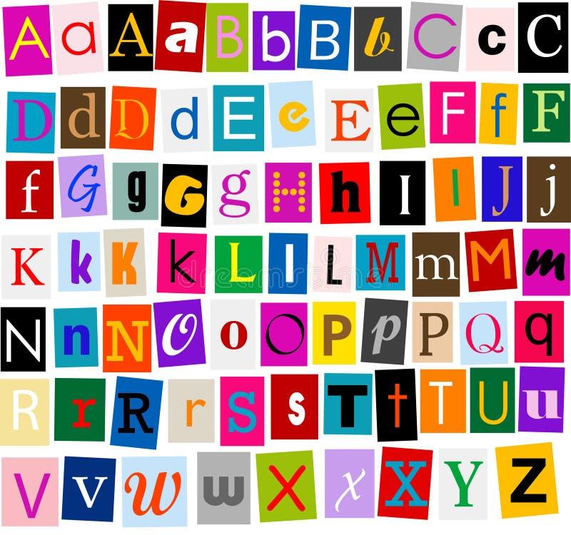 Alphabet illustration de vecteur