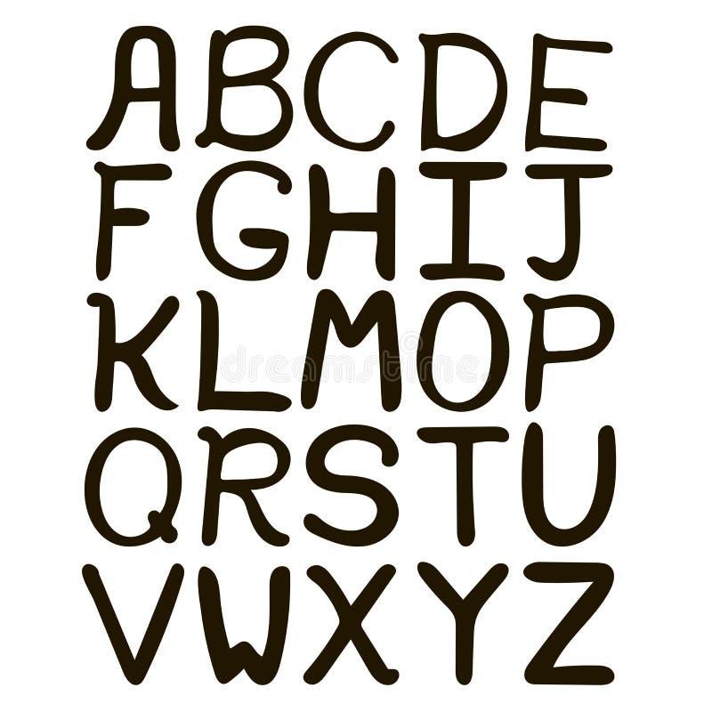 Download Alphabet Abstrait Tiré Par La Main Noir Et Blanc Illustration de Vecteur - Illustration du dessin, modifié: 77160450