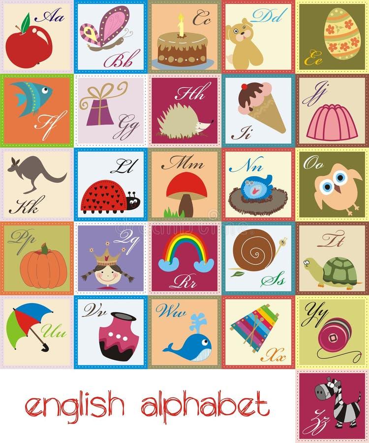 Alphabet anglais illustration libre de droits