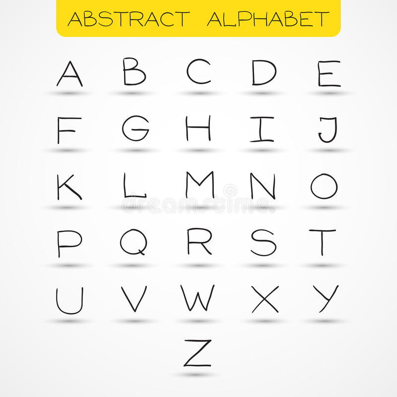 Alphabet anglais images stock
