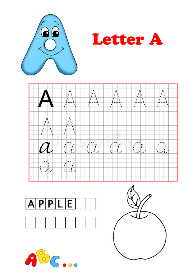 Alphabet, apple stock photos