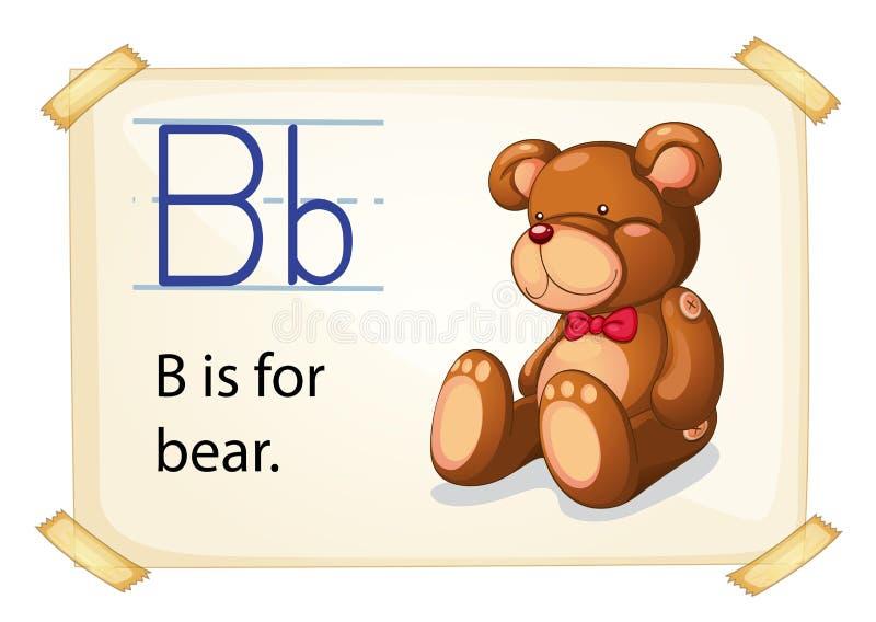 Alphabet B royalty free illustration