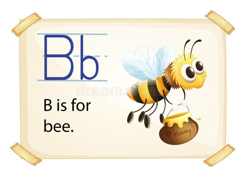 Alphabet B. Illustration of alphabet B is for bee vector illustration