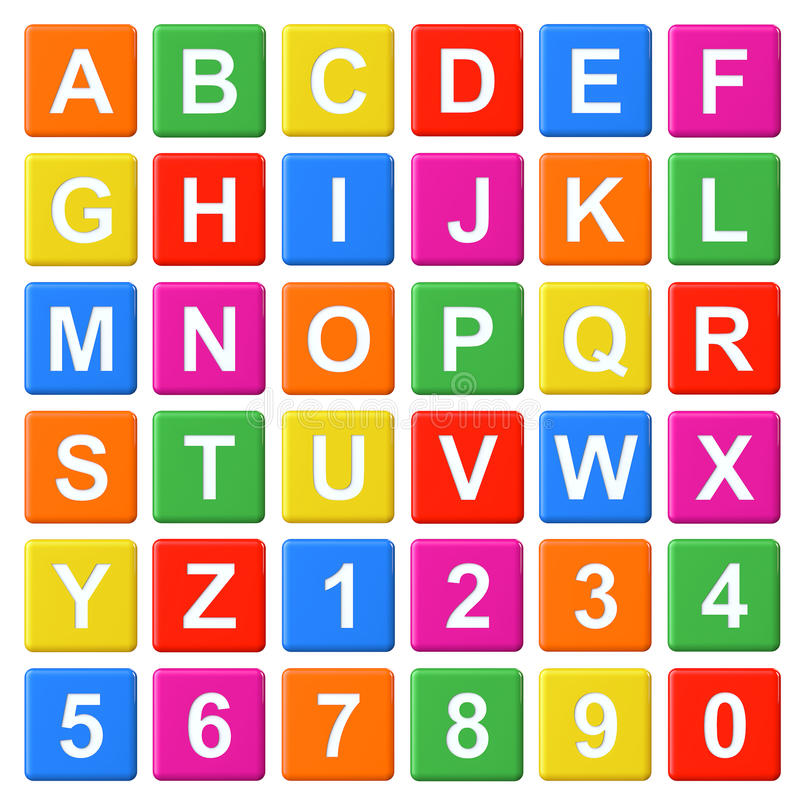Alphabet Baby Blocks stock illustration