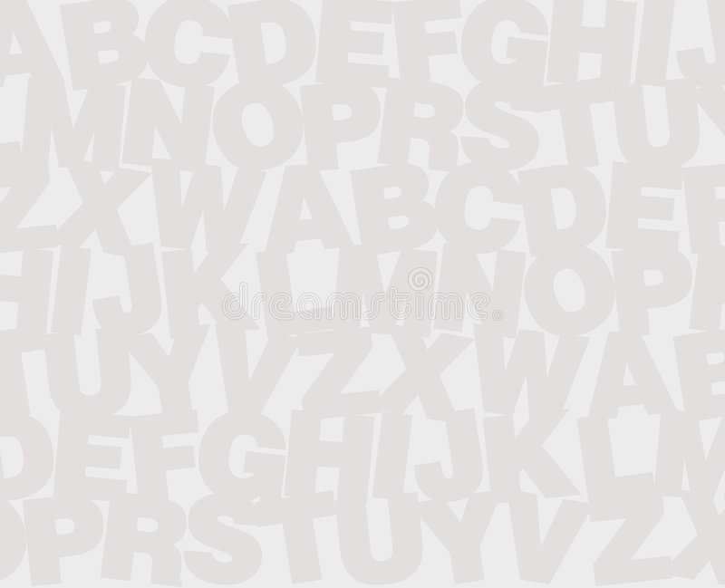 Alphabet background. Continuous alphabet letters in similar color tones. Related to school and education stock illustration