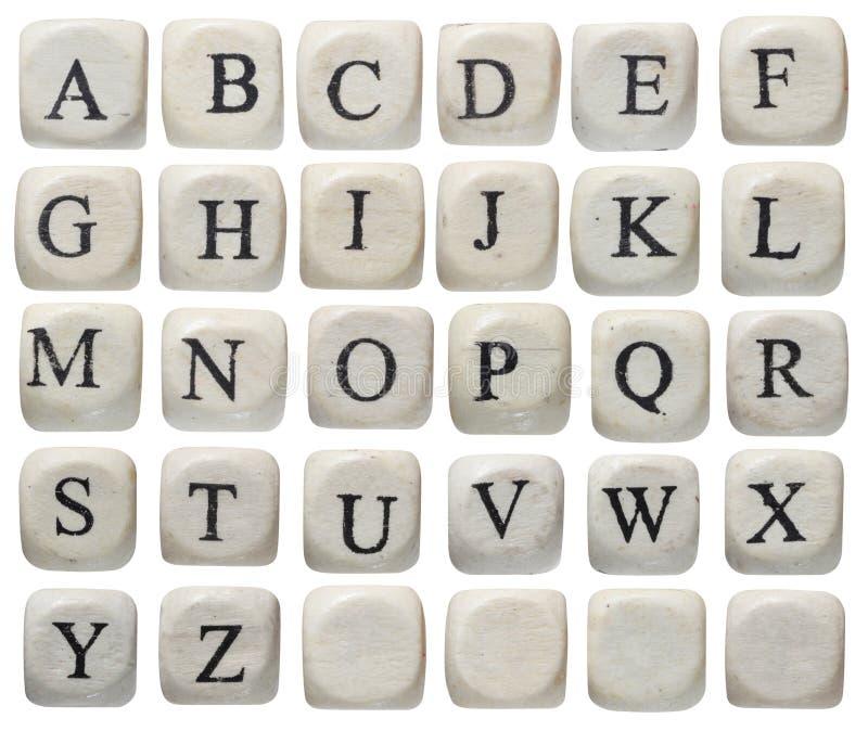 Alphabet bezeichnet Kreidevorstand mit Buchstaben lizenzfreie stockfotos