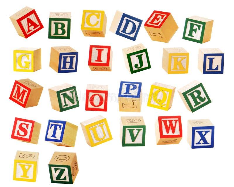 Alphabet-Blöcke lizenzfreie stockfotografie