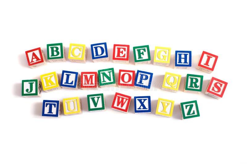 Alphabet-Blöcke lizenzfreies stockbild