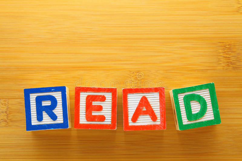 Download Alphabet Block Spell The Word READ Stock Photo - Image: 30479124