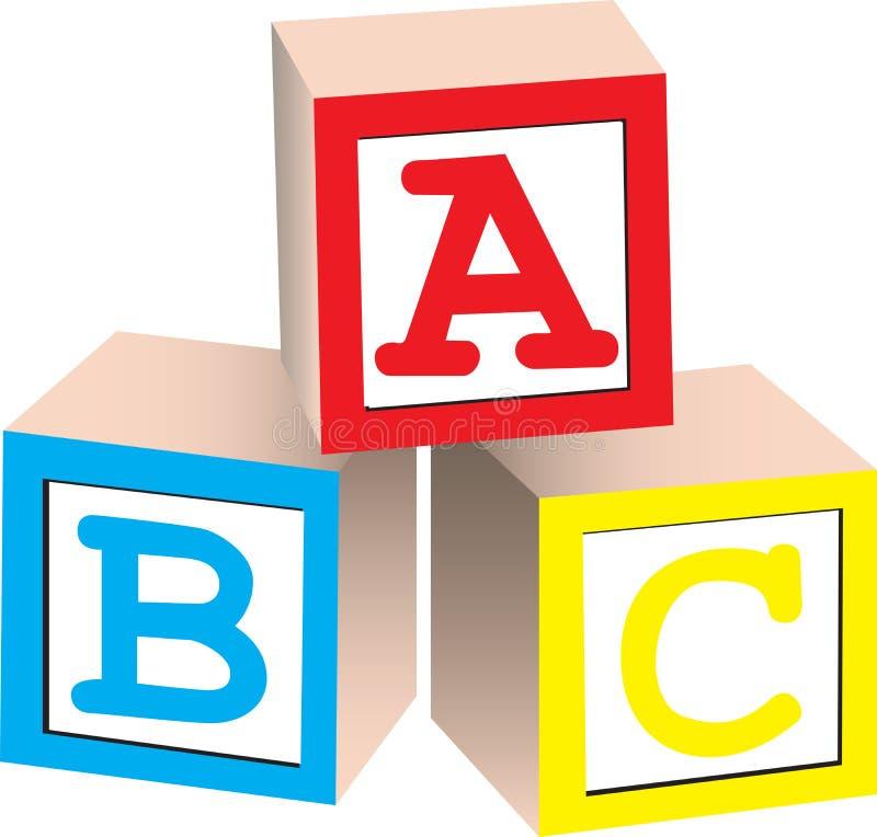 Download Alphabet Blocks stock vector. Image of stacked, illustration - 14161230