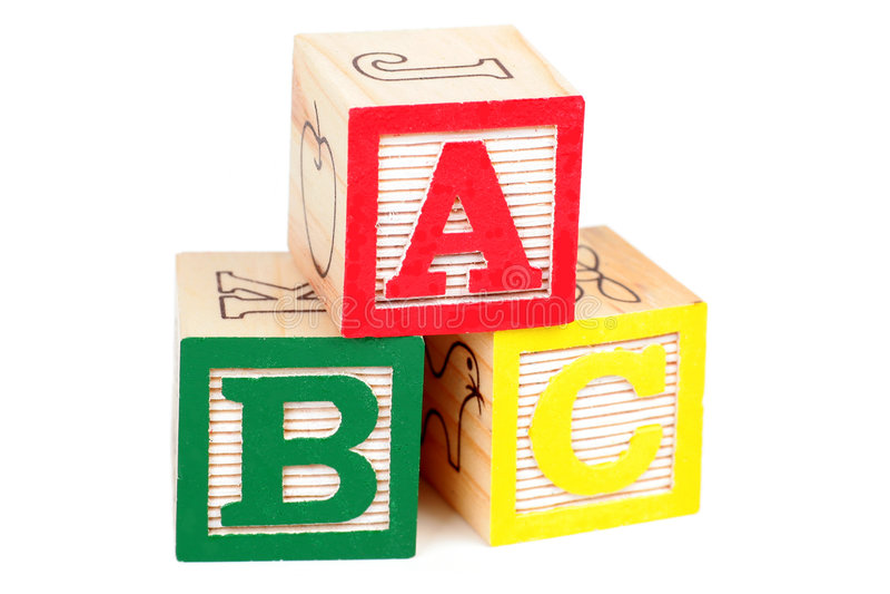 Alphabet Blocks stock photos