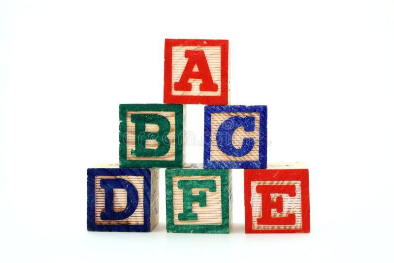 Alphabet blocks royalty free stock photography