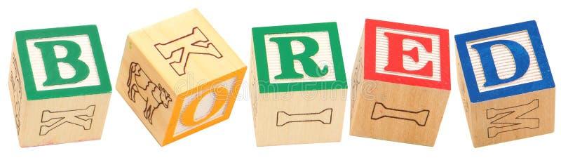 Download Alphabet Blocks BORED stock photo. Image of education - 14844810