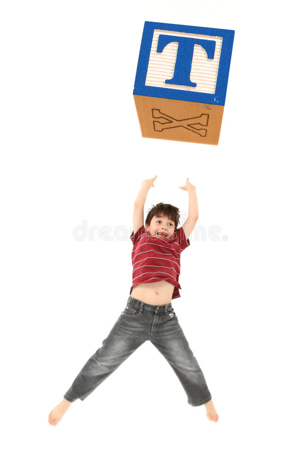 Download Alphabet Blocks Letter T. stock photo. Image of jumping - 14858812