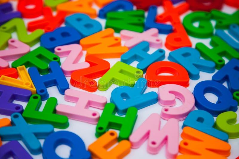 Alphabet blocks placed randomly. Letters language enhlish learn  learning teach teaching english school class royalty free stock image