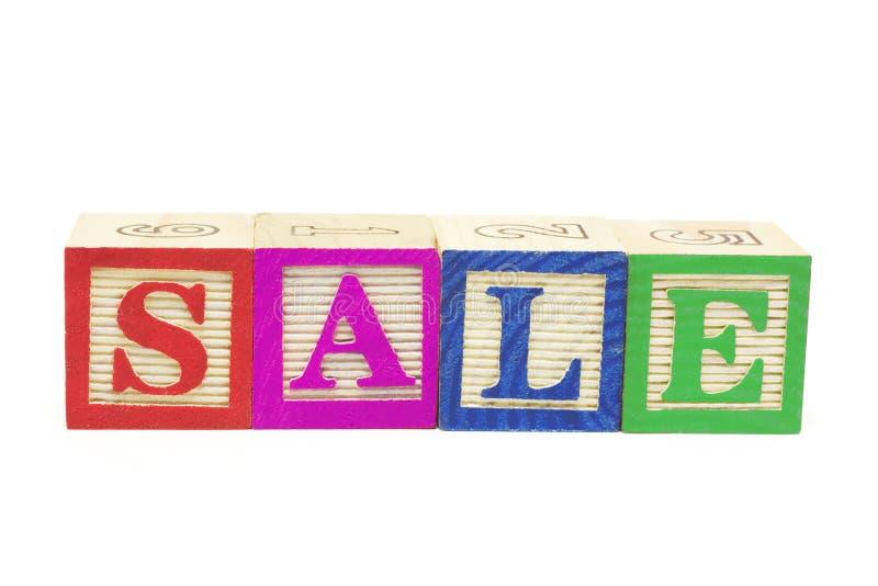 Alphabet Blocks - Sale stock photos