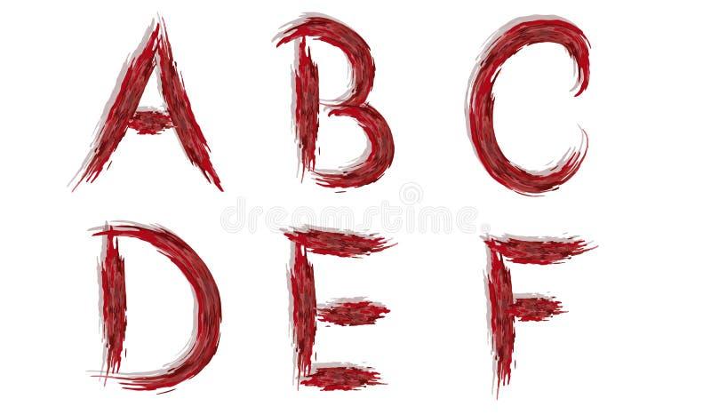 Alphabet - Blutige Buchstaben Vektor Abbildung - Illustration von ...