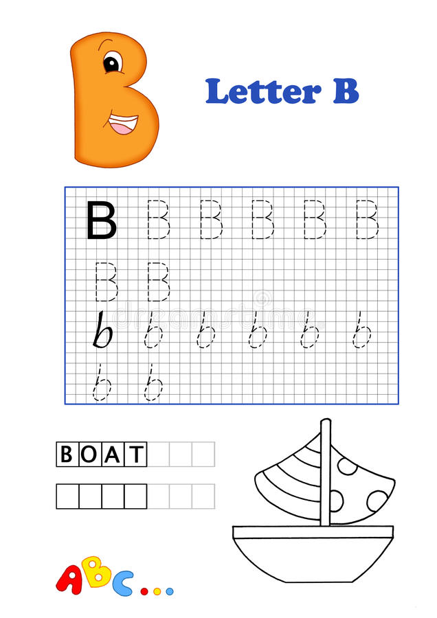 Alphabet, boat royalty free stock image