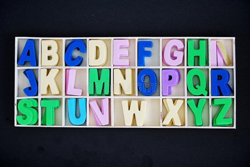 Alphabet in a box royalty free stock photography