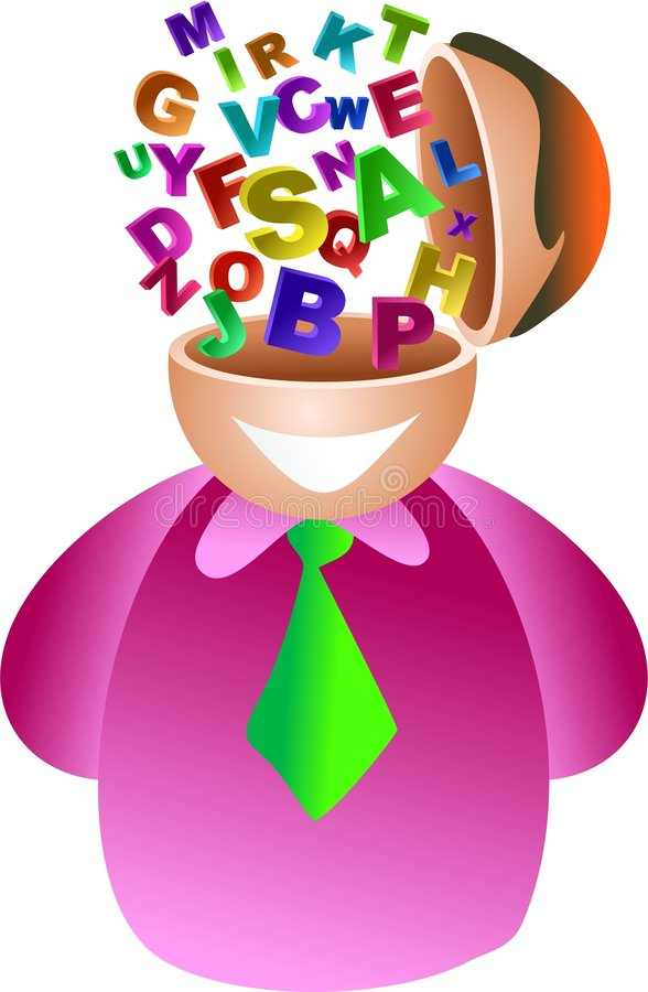 Alphabet brain royalty free illustration