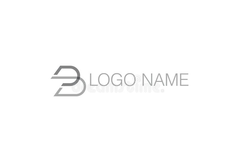 Alphabet-Buchstabe B Logo Design vektor abbildung