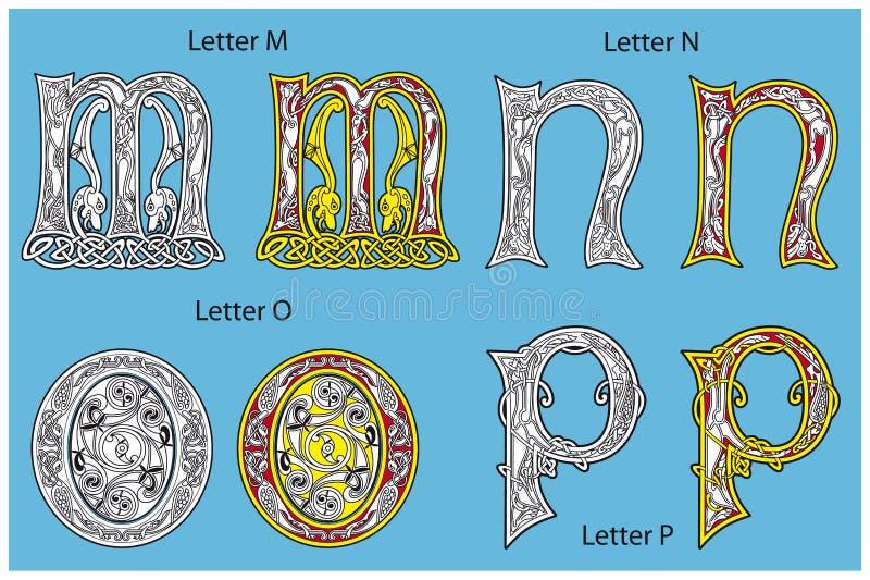 Alphabet Celtique Antique Images libres de droits