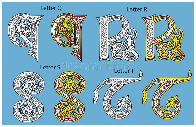 Alphabet celtique antique
