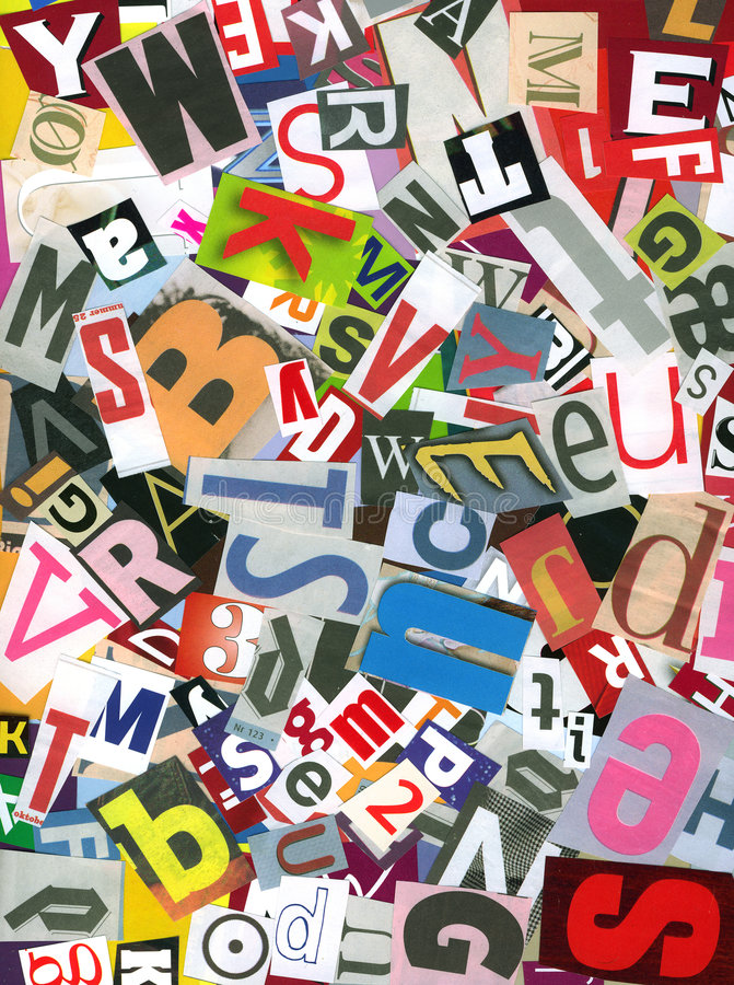 Alphabet chaos stock images