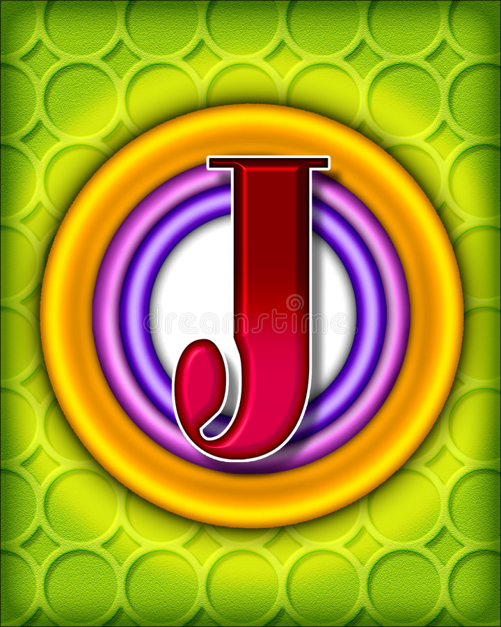 Alphabet circulaire - J illustration stock