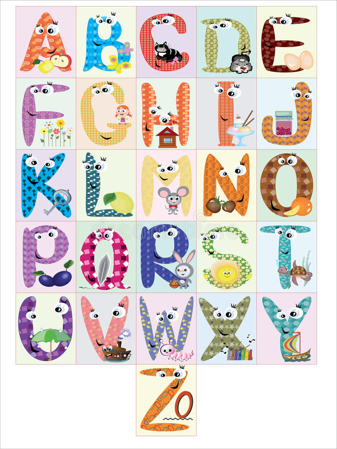 Free Alphabet,CMYK Stock Image - 17975311