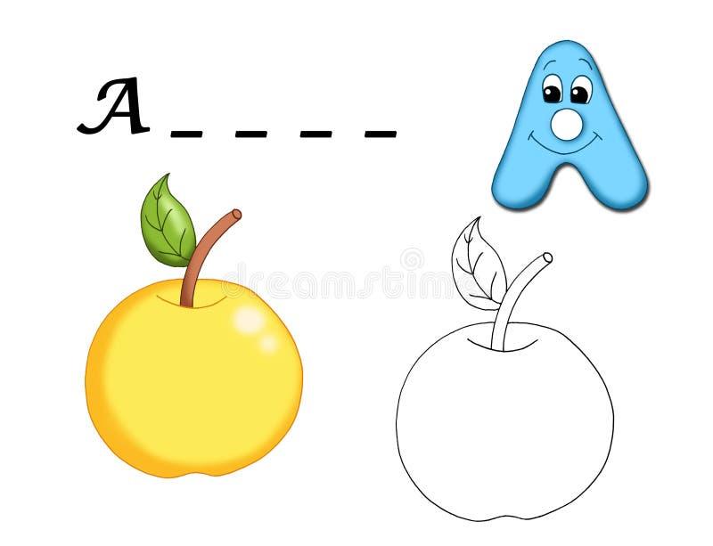 Alphabet coloré - Ã. illustration de vecteur