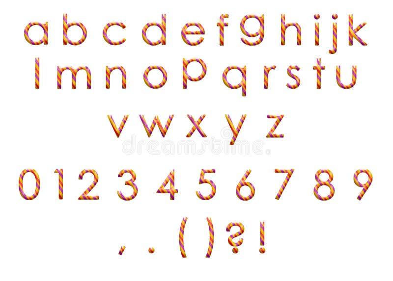 Alphabet coloré photographie stock