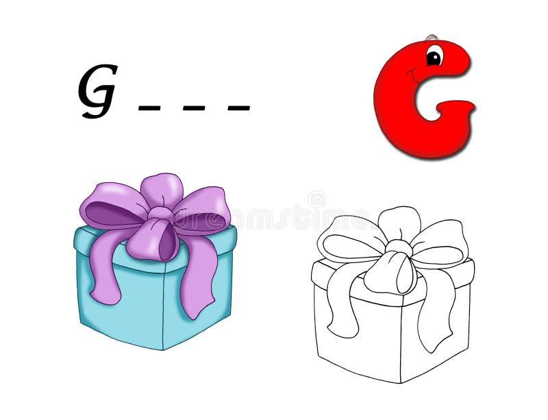 Alphabet coloré - G illustration de vecteur