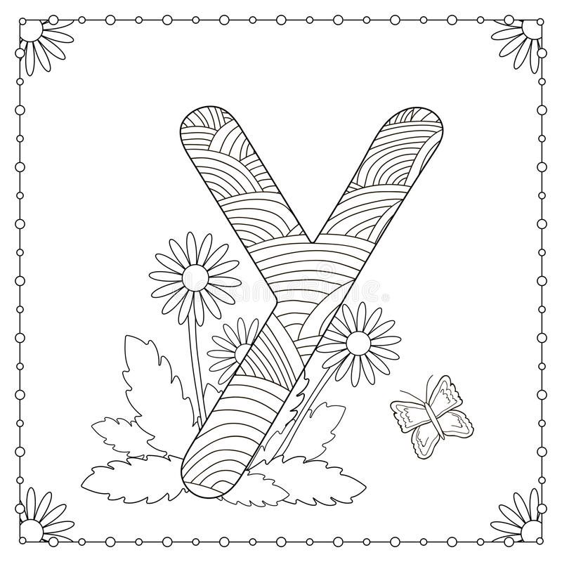 Download Alphabet Coloring Page Stock Vector Illustration Of Black