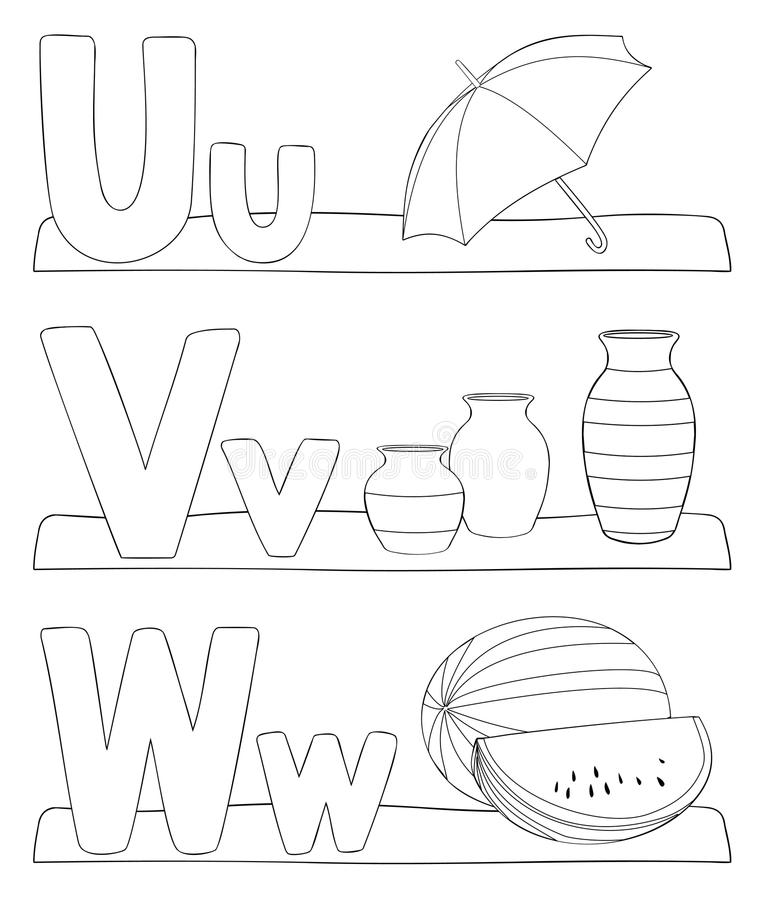 Download Alphabet Coloring Page