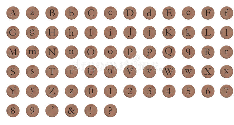 Download Alphabet Copper Round stock illustration. Image of isolated - 11480223