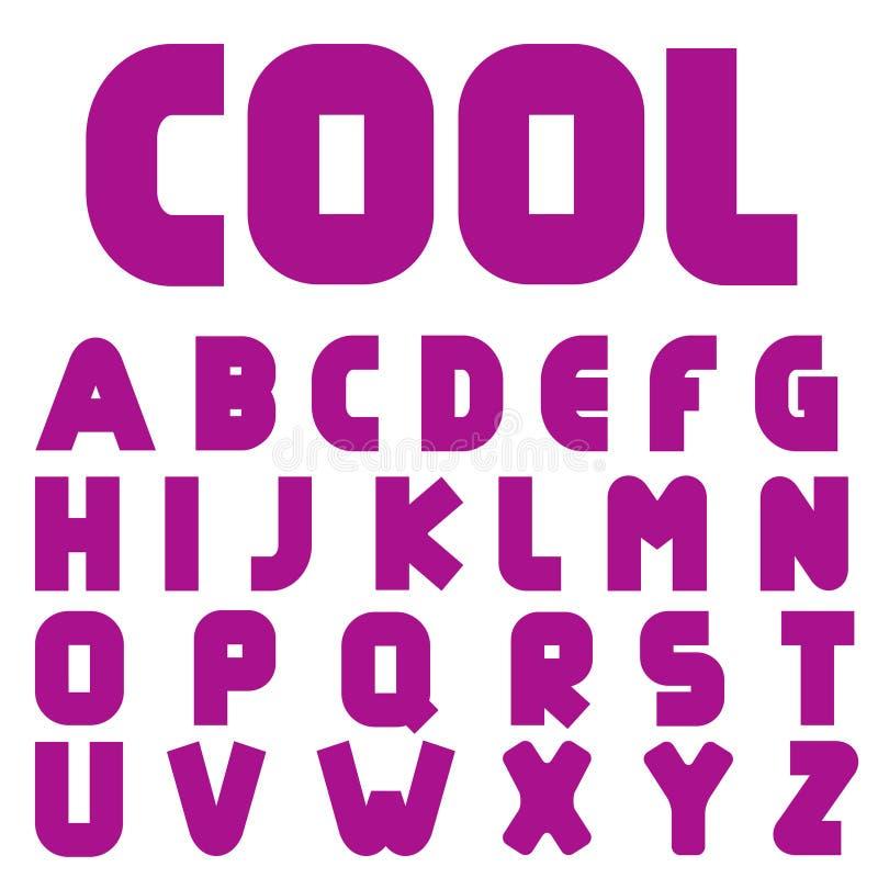 Alphabet créatif frais illustration libre de droits