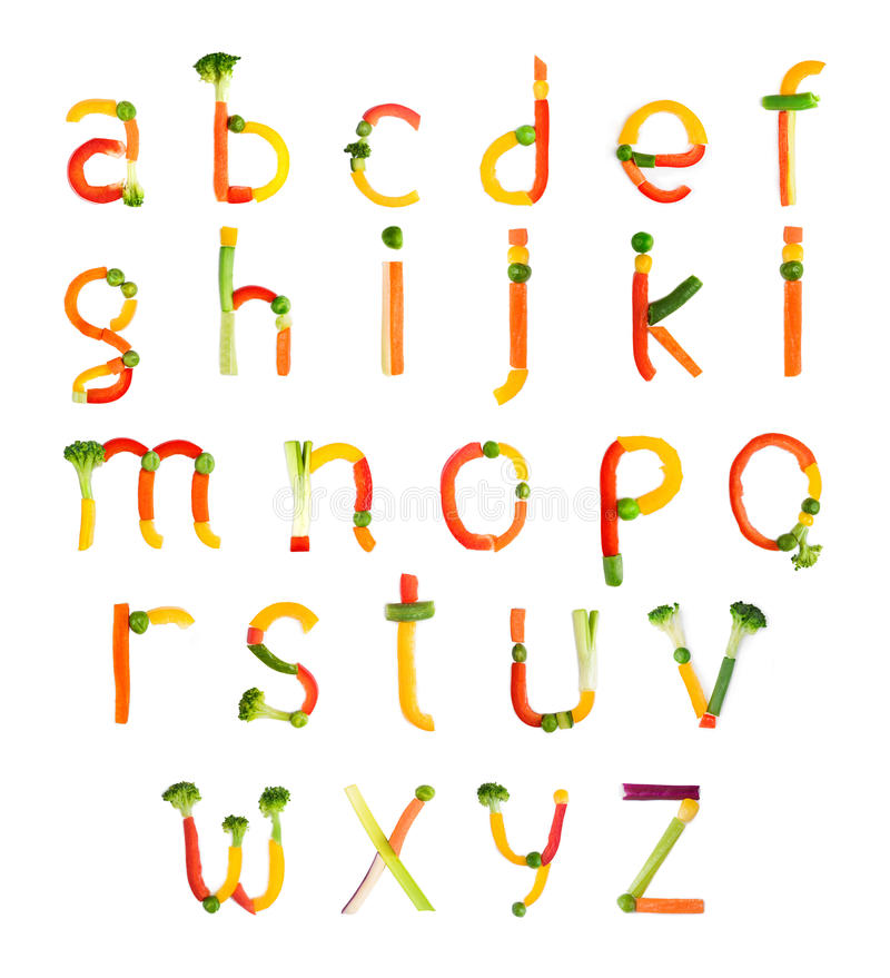 Free Alphabet Created By Vegetables Stock Photos - 50371153