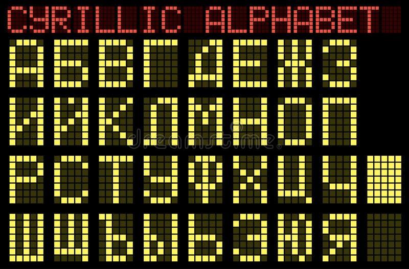 Alphabet cyrillien. Indicateur. illustration de vecteur