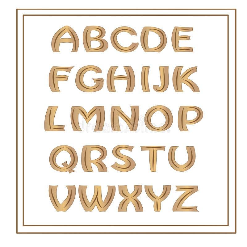 Alphabet décoratif illustration de vecteur