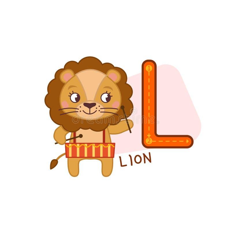 Alphabet d'animal de vecteur illustration libre de droits