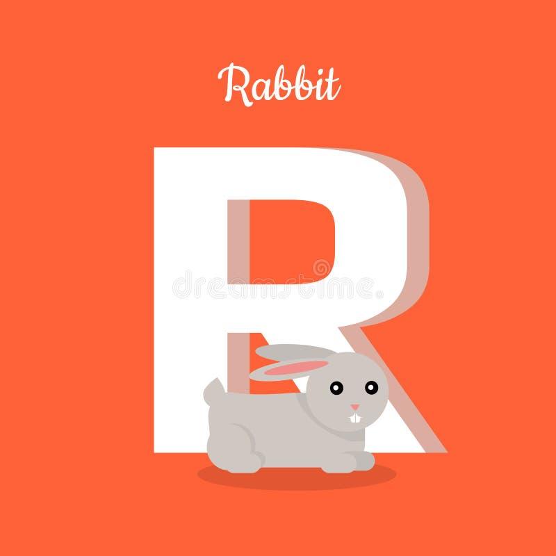 Alphabet d'animaux Lettre - R illustration de vecteur