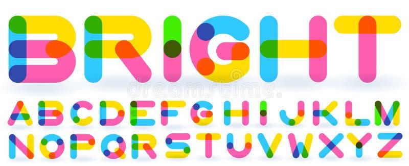 Alphabet d'arc-en-ciel de vecteur illustration stock
