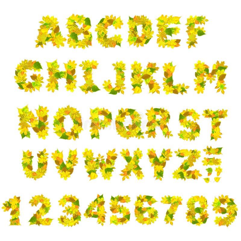 Alphabet d'automne illustration de vecteur