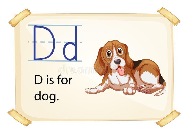 Alphabet D stock illustration